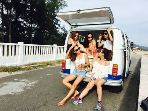 Going on a trip with friends